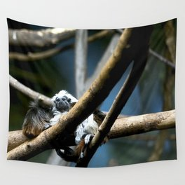 Cottontip Tamarin in Colour Wall Tapestry