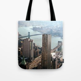 Vintage New City Tote Bag