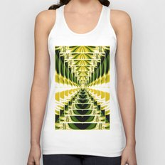 Abstract.Green,Yellow,Black,White,Lime. Unisex Tank Top