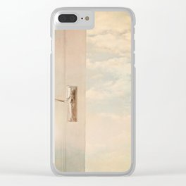Stepping out into a dream. Clear iPhone Case