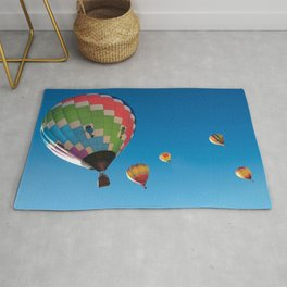 Balloons on Blue Rug