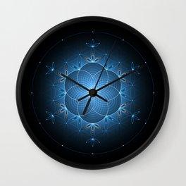 Ice space | Sacred geometry Wall Clock