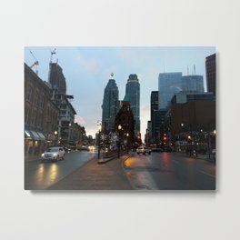 A downtown evening Metal Print