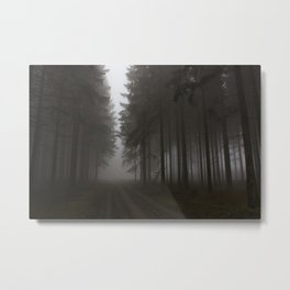 Zauberwald - Fog in the Magic Forest - The Way out  Metal Print