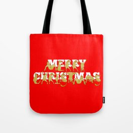 Merry Christmas Ponies Tote Bag