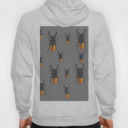NATURE LOVERS STAG HORNED BEETLES BUG GREY ART M Hoody