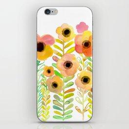Peony field iPhone Skin