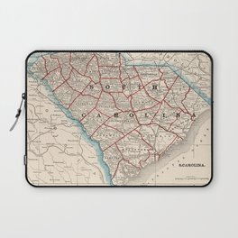 Vintage Map of South Carolina (1893) Laptop Sleeve