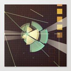 Digital Space Station Canvas Print