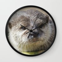 otter Wall Clocks featuring Otter by PICSL8