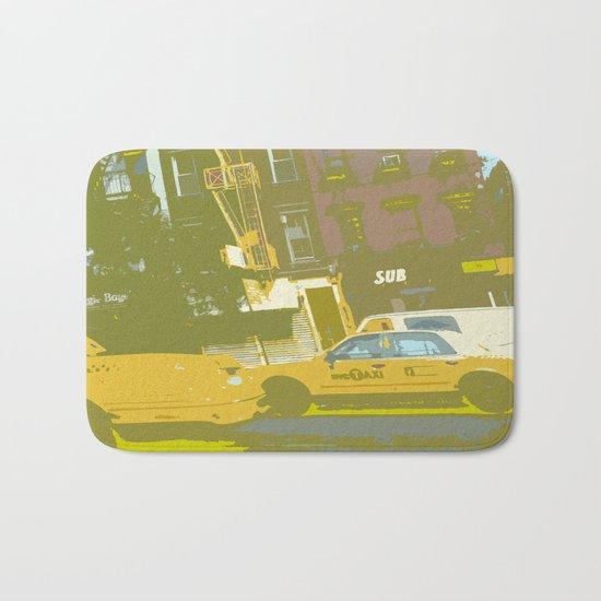 NY#8 Yellow Cab Bath Mat