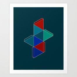 Octahedron I Art Print