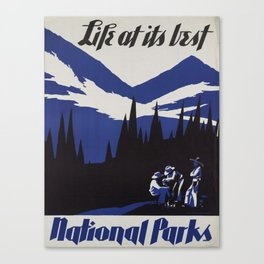 Vintage poster - National parks Canvas Print