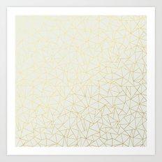 Geo Gold Art Print