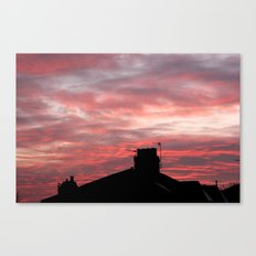 Winter sunset over London Canvas Print