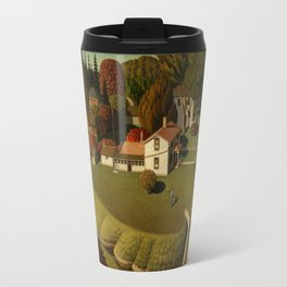 Birthplace of Herbert Hoover, West Branch, Iowa by Grant Wood Travel Mug