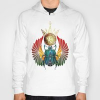 egyptian Hoodies featuring egyptian beetle by Manoou