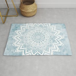 LIGHT BLUE MANDALA SAVANAH Rug