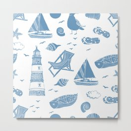 sea pattern modern art Metal Print