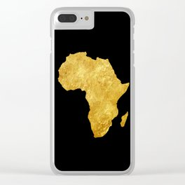 Gold Africa Clear iPhone Case