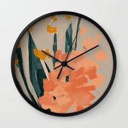 Bouquet Of Summer Citrus Wall Clock