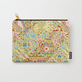 Sunshine Crazy Quilt (printed) Carry-All Pouch