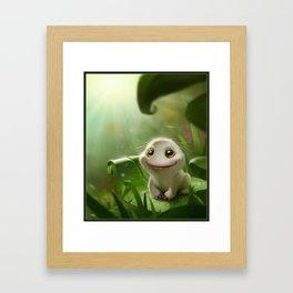 Frog recovered Framed Art Print