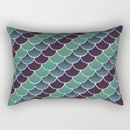 Aquatic Scales Rectangular Pillow