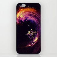 surfing iPhone & iPod Skins featuring Space Surfing by nicebleed
