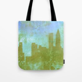The Hawk and The Fox, town, fox, hawk, blue, white, butterfly Tote Bag