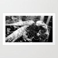 Reptilian Replication Art Print