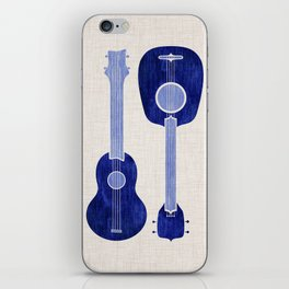 Indigo Blue Ukuleles iPhone Skin