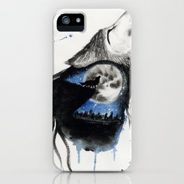 Moon Wolf iPhone Case