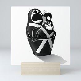 Mr. Freeman matryoshka Mini Art Print