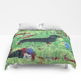 Dachshund Weiner Dog Painting Comforters