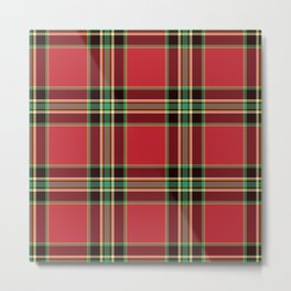 Classic Christmas Tartan Plaid Metal Print