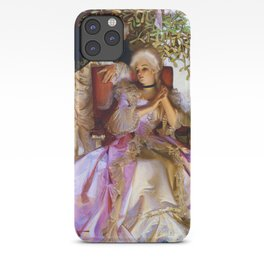 Joseph Christian Leyendecker - Colonial Style Couple Under Mistletoe - Digital Remastered Edition iPhone Case