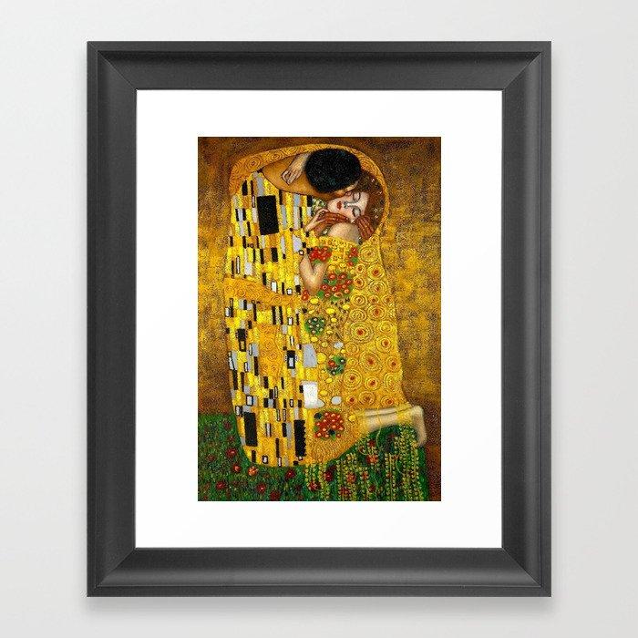 The Kiss Painting Gustav Klimt Gerahmter Kunstdruck
