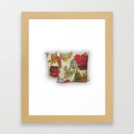 Handmade Tropical Kantha Pillow Cover Framed Art Print