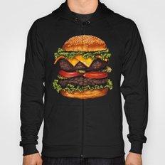 Double Cheeseburger Pattern Hoody