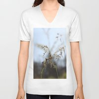 grass V-neck T-shirts featuring Grass by RMK Creative