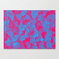 Nature Pattern - # 3 Leaves (Blue Red) Canvas Print