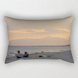Sunset Over Mt. Olympus Rectangular Pillow