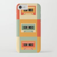 cassette iPhone & iPod Cases featuring cassette by vitamin