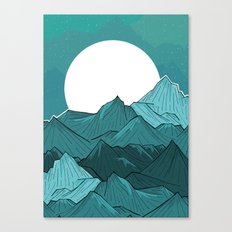 The Turquoise Mounts Canvas Print