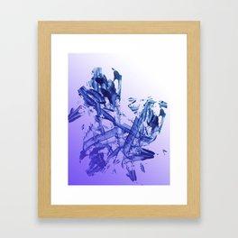 Indigo Impact Framed Art Print