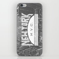 nyc iPhone & iPod Skins featuring NYC by Zeke Tucker