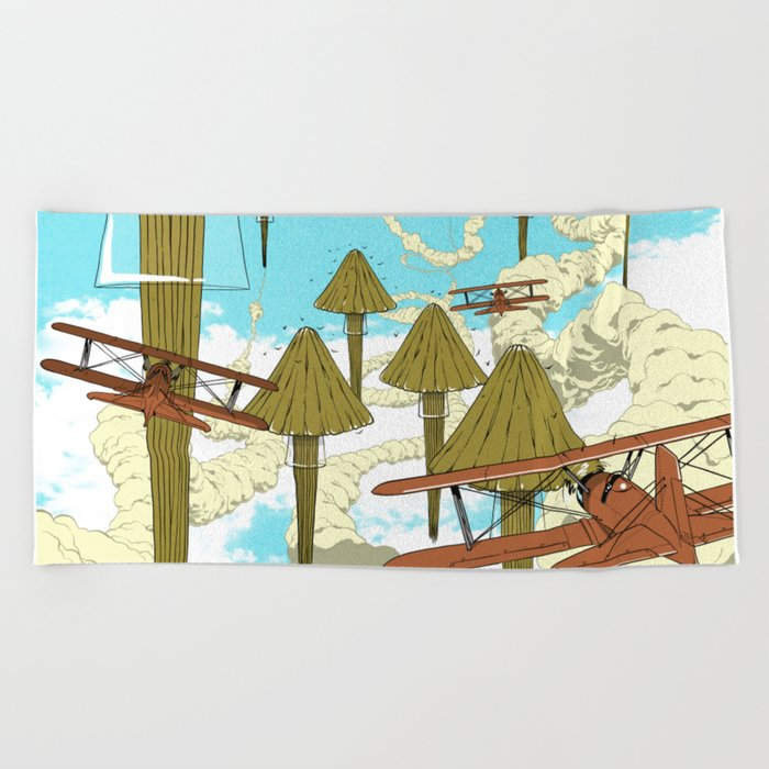 Jellyfish's War Beach Towel