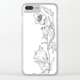 Canterbury Bells Clear iPhone Case