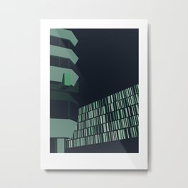 Berlin Mitte im Dunkeln // Berlin Mitte in the Dark Metal Print